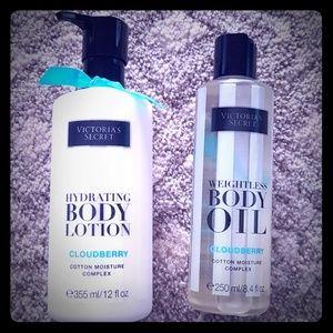 Victoria's Secret Cloudberry Lotion and Body Oil